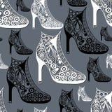 Naadloze textuur met decoratieve schoenen 28 Royalty-vrije Stock Afbeelding