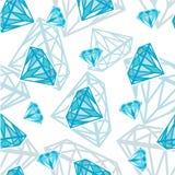 Naadloze textuur met diamanten Stock Afbeelding
