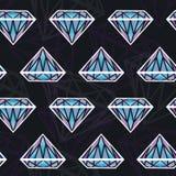 Naadloze textuur met diamanten Stock Fotografie