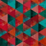 Naadloze textuur met driehoeken, mozaïek eindeloos patroon Sq dat Royalty-vrije Stock Afbeeldingen