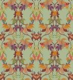 Naadloze textuur met een bloemenpatroon stock illustratie