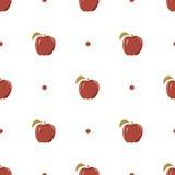 Naadloze textuur met een patroon van rode appelen Stock Foto's
