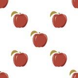 Naadloze textuur met een patroon van rode appelen Stock Fotografie