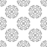 Naadloze textuur met etnisch patroon Stock Afbeelding
