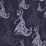 Naadloze textuur met flamencodanser 5 Royalty-vrije Stock Fotografie