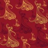 Naadloze textuur met flamencodanser 7 Stock Afbeelding