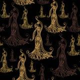 Naadloze textuur met flamencodanser 3 Royalty-vrije Stock Foto's