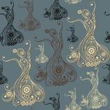 Naadloze textuur met flamencodanser 9 Royalty-vrije Stock Fotografie