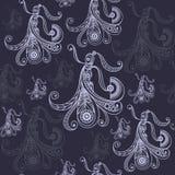 Naadloze textuur met flamencodanser 6 Stock Afbeelding