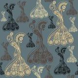 Naadloze textuur met flamencodanser 10 Royalty-vrije Stock Foto's