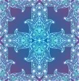 Naadloze textuur met gekleurde stammenhamsa met bohopatroon stock illustratie