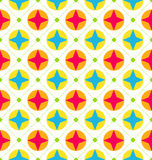 Naadloze Textuur met Geometrische Vormen, Kleurrijke Achtergrond Stock Fotografie