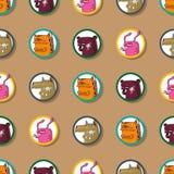 Naadloze textuur met grappige dieren. Royalty-vrije Stock Fotografie