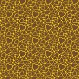 Naadloze textuur met hart Stock Afbeelding