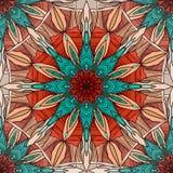 Naadloze textuur met het kleuren mandala met abstract patroon Royalty-vrije Stock Afbeelding