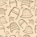 Naadloze textuur met kappen royalty-vrije illustratie