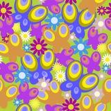 Naadloze textuur met madeliefjes en vlinder Stock Foto's