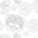 Naadloze textuur met prachtige beelden van bloemen royalty-vrije stock afbeeldingen