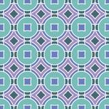 Naadloze Textuur met Ruiten en Cirkels Stock Afbeeldingen