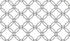 Naadloze textuur met ruiten en cirkels, mozaïek eindeloze patt Stock Afbeelding