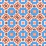 Naadloze Textuur met Ruiten en Cirkels Mozaïek Eindeloze Patt stock illustratie
