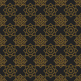 Naadloze textuur met uitstekend geometrisch ornament Stock Foto