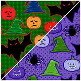 Naadloze textuur op Halloween Stock Foto's