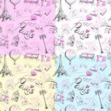Naadloze textuur Parijs Royalty-vrije Stock Fotografie