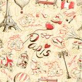 Naadloze textuur Parijs Stock Afbeelding
