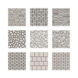 Naadloze textuur - steenmuur Royalty-vrije Stock Afbeeldingen