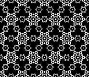 Naadloze textuur, subtiel geometrisch zwart-wit patroon, kantillustratie Royalty-vrije Stock Foto's
