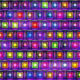 Naadloze textuur van abstracte heldere glanzende kleurrijke vormen stock illustratie