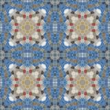 Naadloze textuur van abstracte stof Caleidoscopische behangtegels Stock Foto's