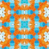 Naadloze textuur van abstracte stof Caleidoscopische behangtegels Royalty-vrije Stock Foto's