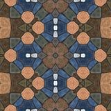 Naadloze textuur van abstracte stof Caleidoscopische behangtegels Royalty-vrije Stock Afbeeldingen