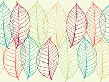 Naadloze textuur van bladeren Stock Afbeeldingen