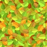 Naadloze textuur van de herfstbladeren Royalty-vrije Stock Afbeeldingen