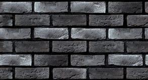 Naadloze textuur van een donkergrijze bakstenen muur Stock Foto