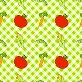 Naadloze textuur van groenten Stock Fotografie