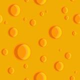 Naadloze textuur van kaas met gaten Stock Afbeelding