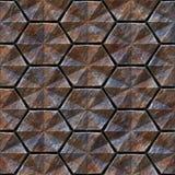Naadloze textuur van metaal Stock Foto