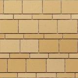 Naadloze textuur van muur van de zandsteen de gele steen stock foto's
