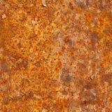 Naadloze textuur van roestige metaaloppervlakte Grunge fotografisch klopje Stock Foto's