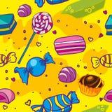 Naadloze textuur van suikergoed vector illustratie