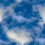 Naadloze Textuur van witte wolken in de hemel Stock Foto