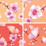 Naadloze textuur vier met takken Stock Foto's