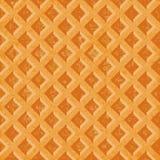Naadloze textuur zachte wafels De geweven oppervlakte van geroosterde gouden bruin Stock Fotografie