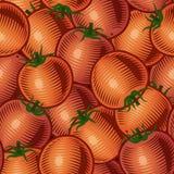 Naadloze tomatenachtergrond Stock Afbeelding