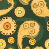 Naadloze tracery in geel Royalty-vrije Stock Afbeelding