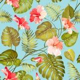 Naadloze tropische bloem stock illustratie